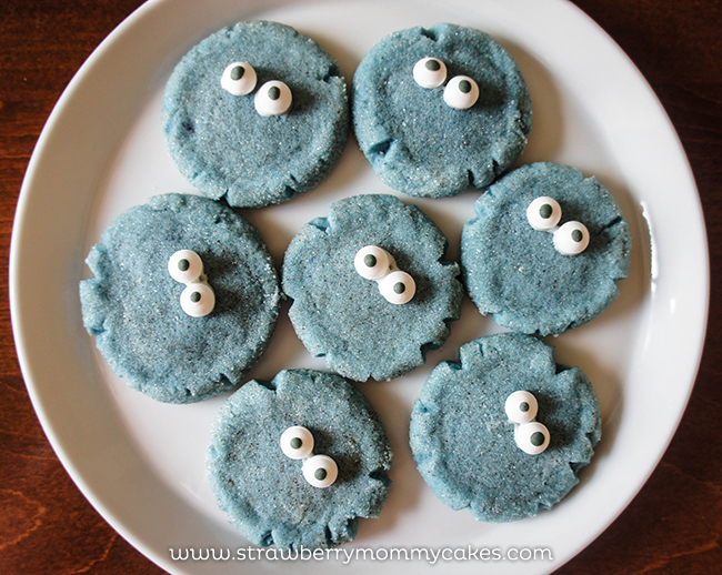 Cookie Monster Snickerdoodle Cookies