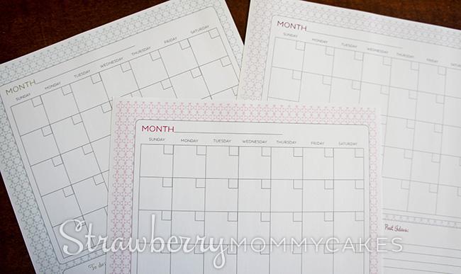 Blog Post Schedule Printable