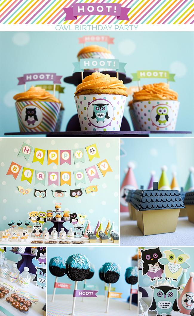 HOOT! Owl Birthday Party on www.strawberrymommycakes.com