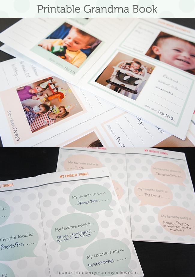Grandma Book FREE Mother's Day Printable on www.strawberrymommycakes.com