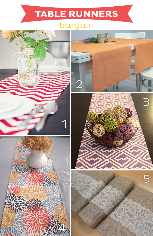 15 Fabulous Table Runners BARGAIN on www.strawberrymommycakes.com