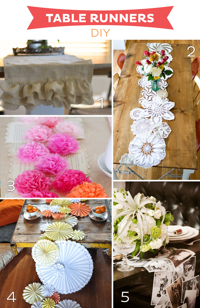 15 Fabulous Table Runners DIY on www.strawberrymommycakes.com