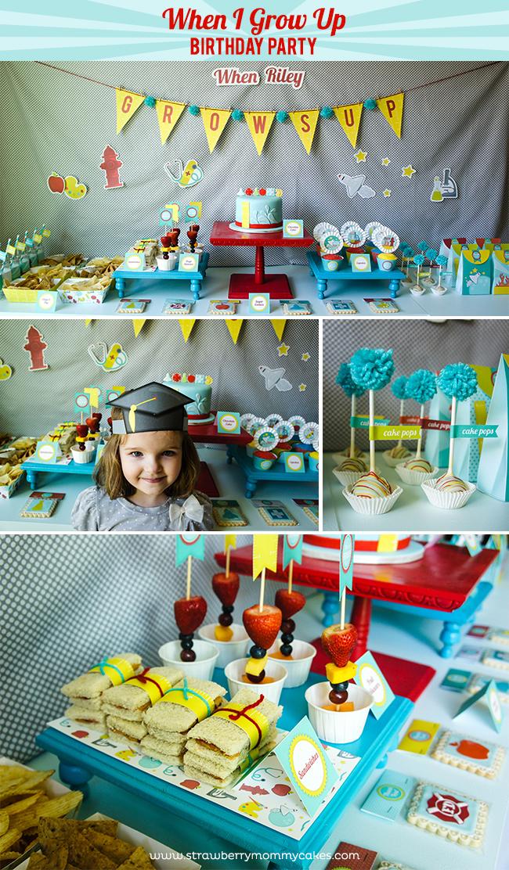 When I Grow Up Gender Neutral Birthday Party on www.strawberrymommycakes.com