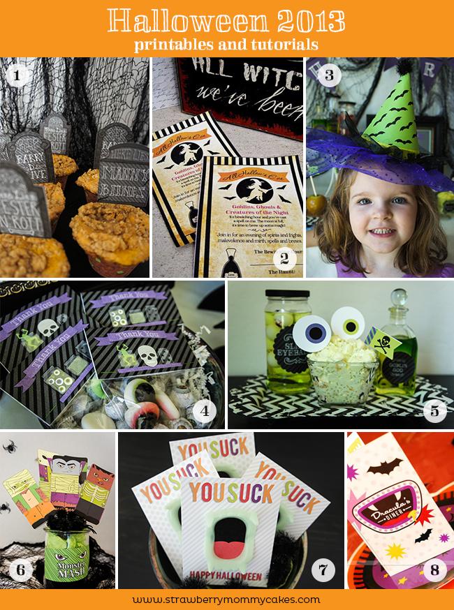Halloween 2013 Printables and Tutorials on www.strawberrymommycakes.com #printables #halloween #freeprintables