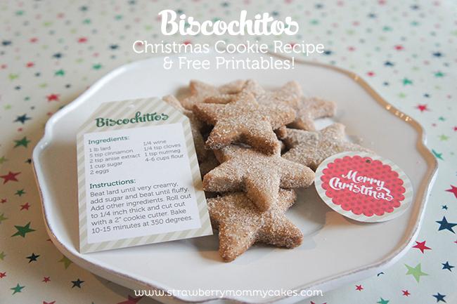biscochitos christmas cookie recipe free printables printable crush