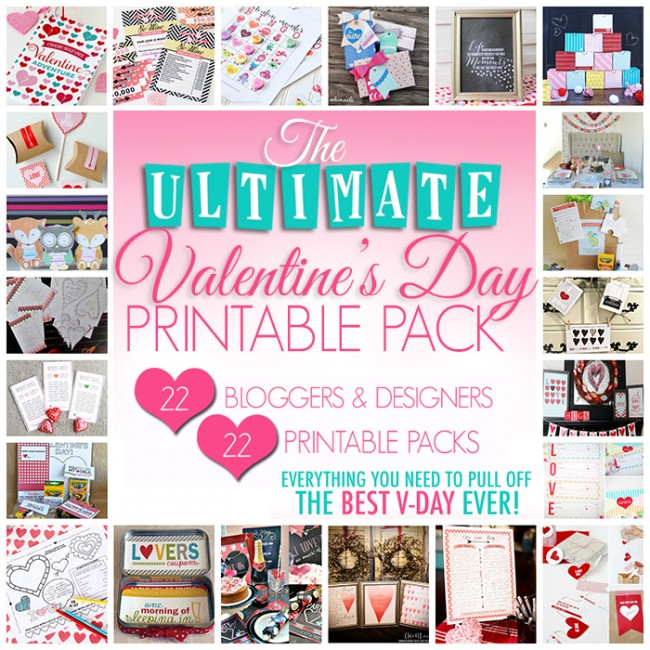 The ULTIMATE Valentine's Day Printable Pack on www.strawberrymommycakes.com #valentinesday #valentineprintables #valentinesdayprintables