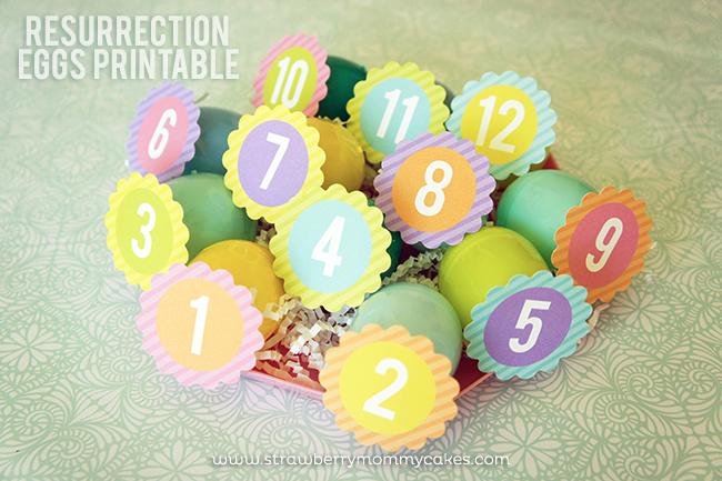Resurrection Eggs Printable on www.strawberrymommycakes.com #freeprintables #easterprintables #resurrectioneggs