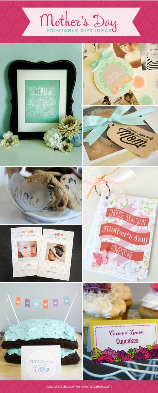 Mother's Day Printable Gifts Roundup on www.strawberrymommycakes.com #printable #mothersdayprintable #mothersday