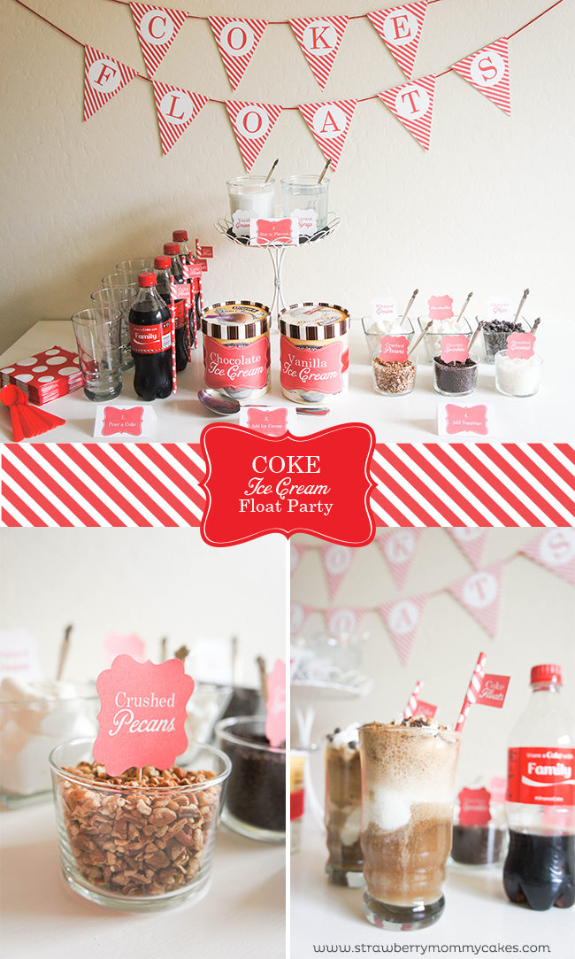 Coke Ice Cream Float Party Printable Crush
