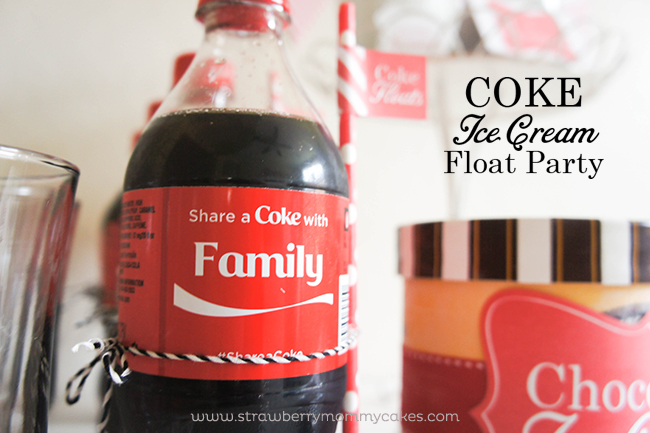 Coke Ice Cream Float Party on www.strawberrymommycakes.com #cokefloatparty  #ShareitForward #shop