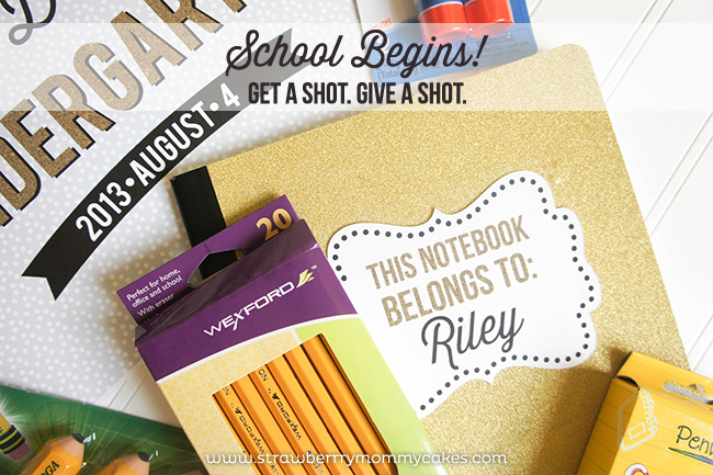 School Begins! Get A Shot. Give A Shot. on www.strawberrymommycakes.com #walgreens #GiveaShot #shop #cbias