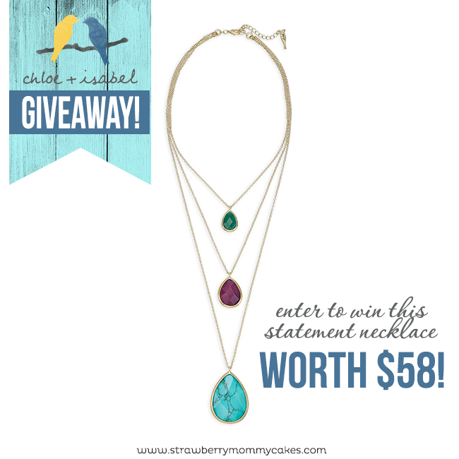 Chloe + Isabel Statement Necklace Giveaway on www.strawberrymommycakes.com
