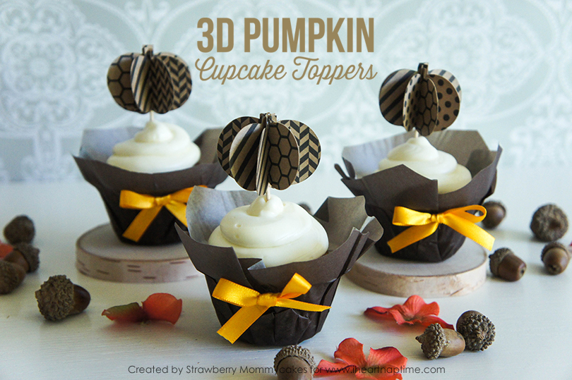 Pumpkin Cupcake Toppers on www.strawberrymommycakes.com #freeprintable #fall #cupcaketoppers