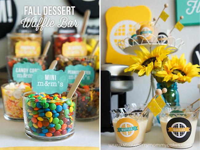 M&M's Fall Dessert Waffle Bar on www.strawberrymommycakes.com #FlavorofFall #CollectiveBias #shop