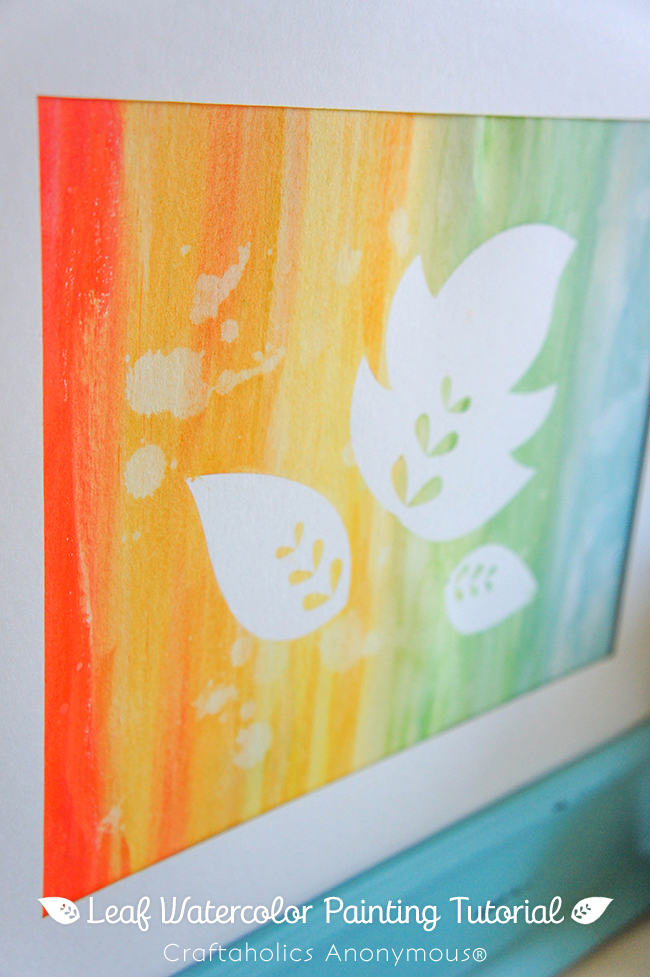 Super Easy Fall Art on www.strawberrymommycakes.com #fallart #watercolor