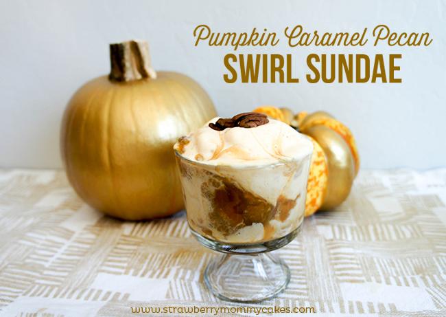 Pumpkin Caramel Pecan Swirl Sundae
