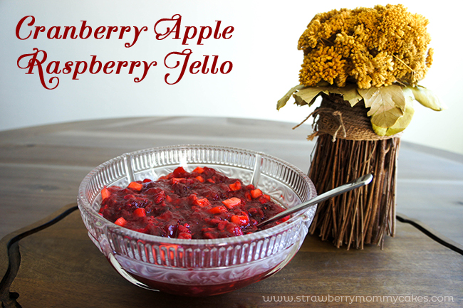 Cranberry Raspberry Apple Jello - a new twist on a classic Thanksgiving side!