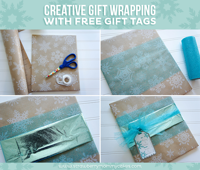 Creative gift wrapping with free gift tags printable crush for Creative tissue paper ideas