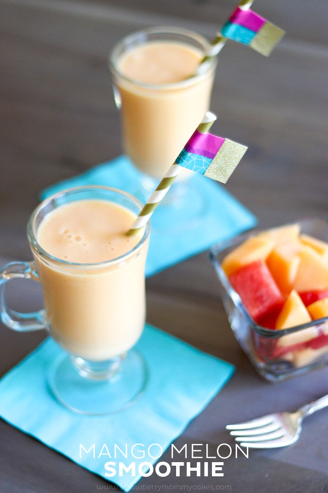 Try this refreshing Mango Melon Smoothie this summer!