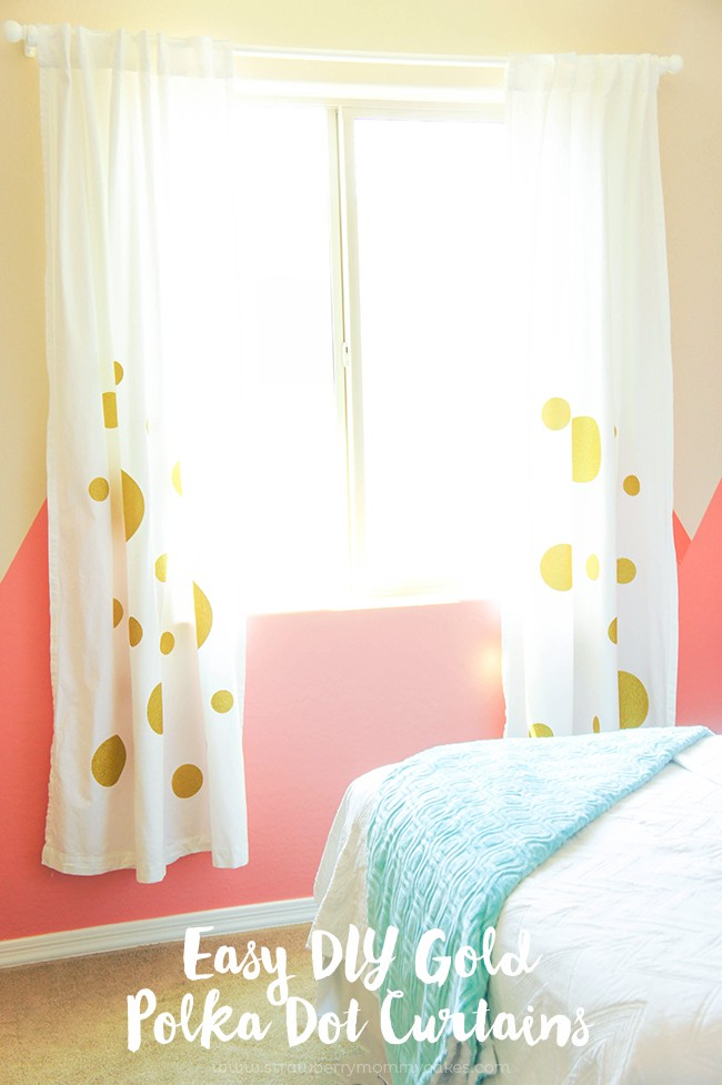 Easy DIY Gold Polka Dot Curtains + DOZENS OF OTHER VINYL PROJECT IDEAS WITH  EXPRESSIONS VINYL