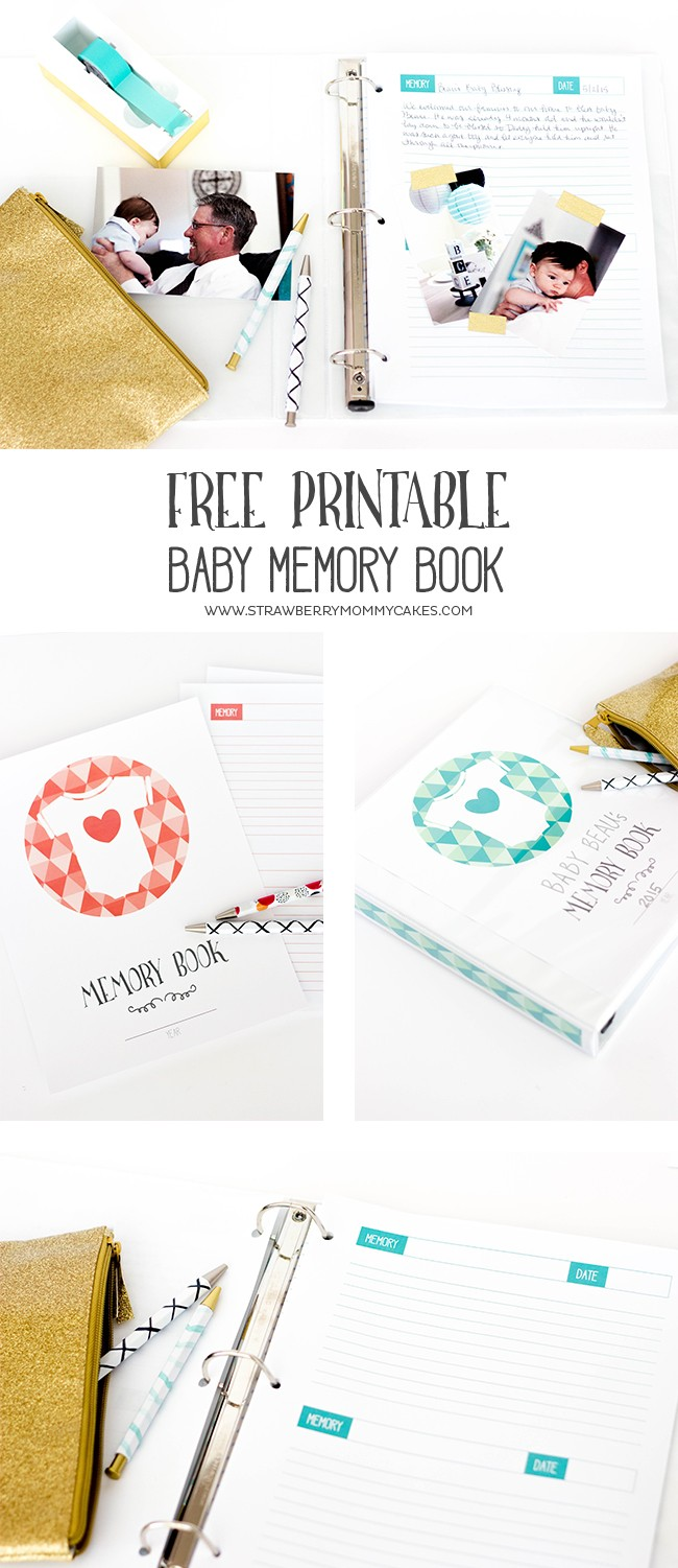 Free printable baby memory book printable crush keep track of all those memories from the first year with this printable baby memory book pronofoot35fo Images