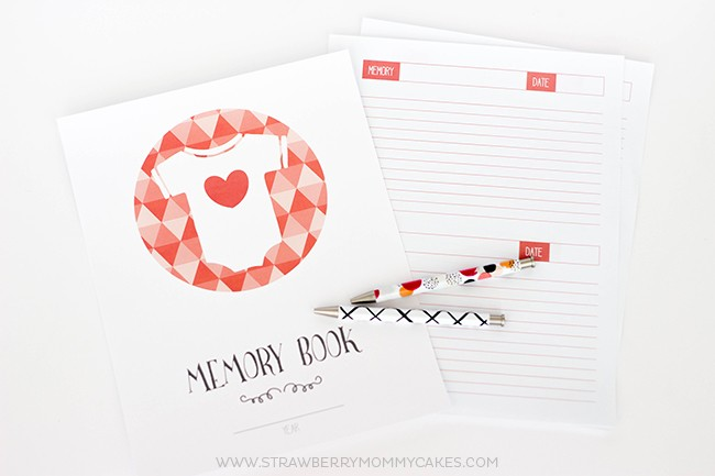 Keep track of all those memories from the first year with this Printable Baby Memory Book! You'll cherish this forever!