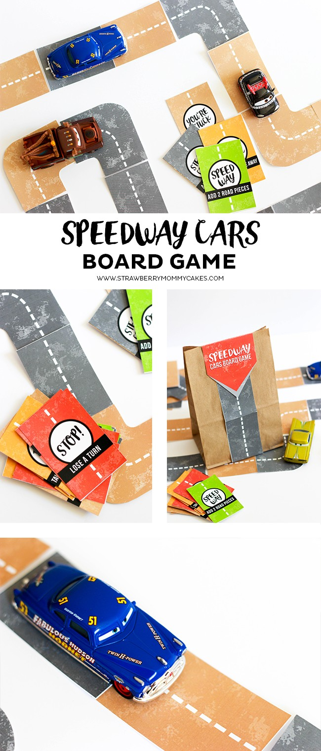 speedway cars board game