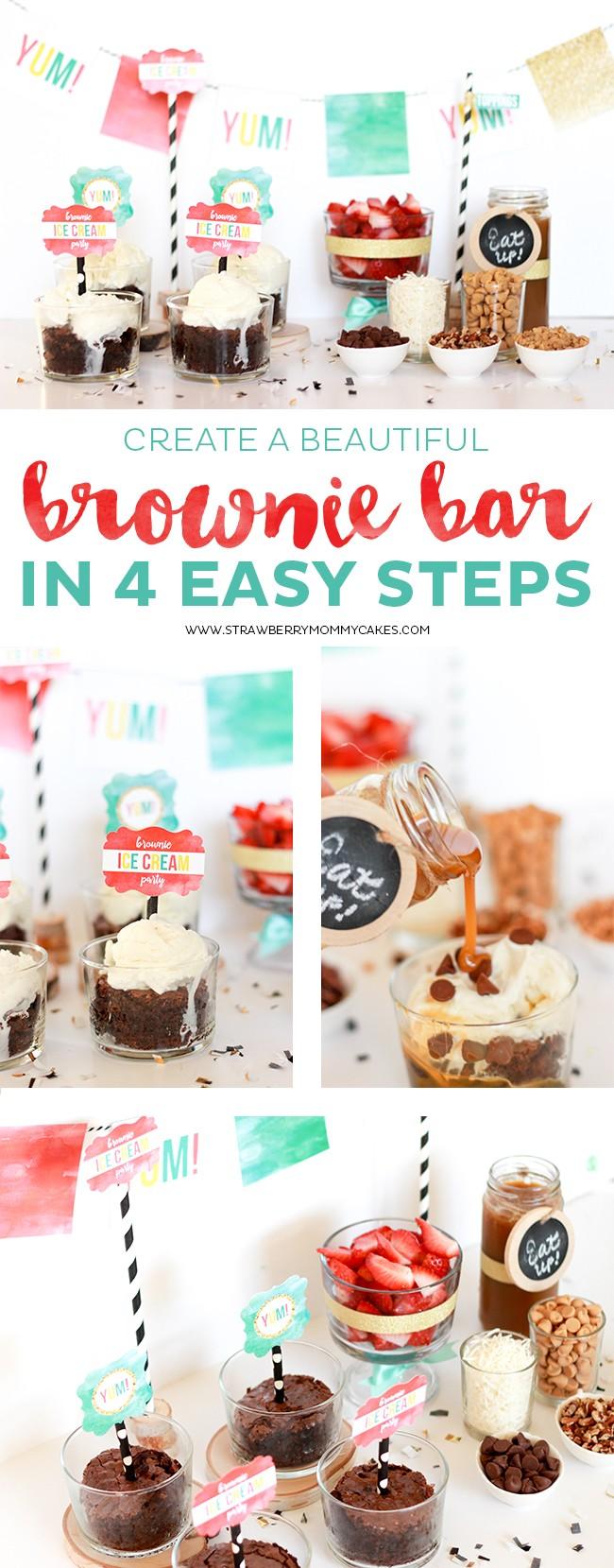 Create a Beautiful Brownie Bar in 3 Easy Steps!