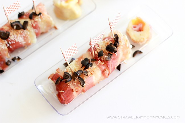 How to Make Ham, Bacon and Potato Sushi Rolls. These are a fun take on some classic comfort foods and are perfect for entertaining!