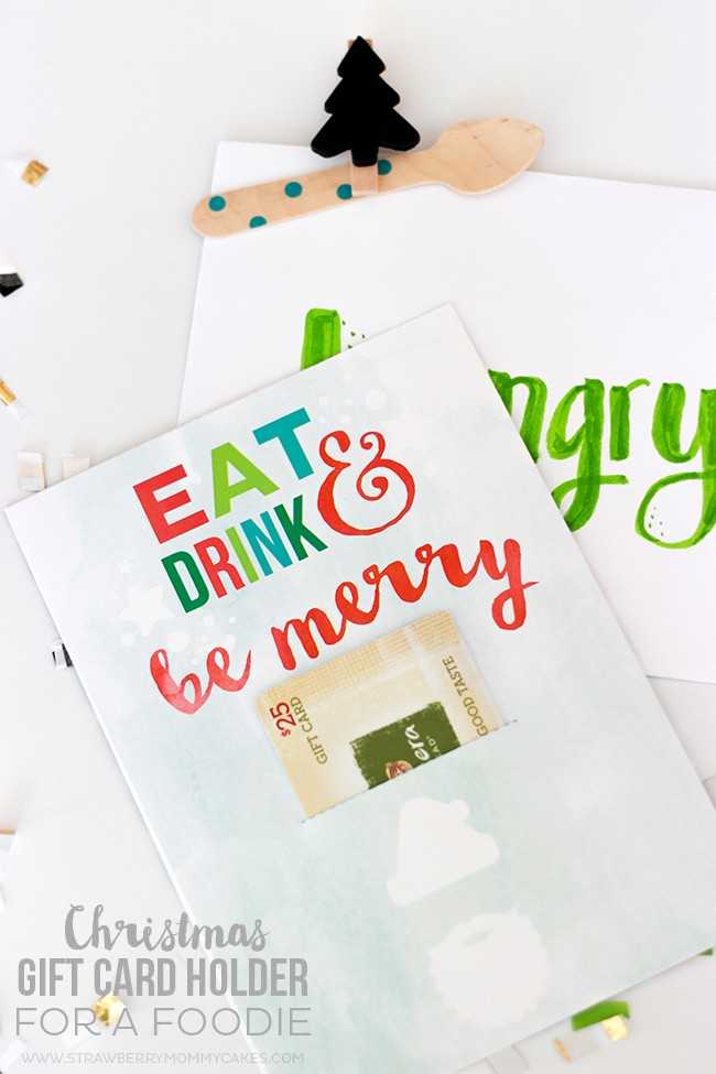 How to Make a Christmas Gift Card Holder for a Foodie - Printable Crush
