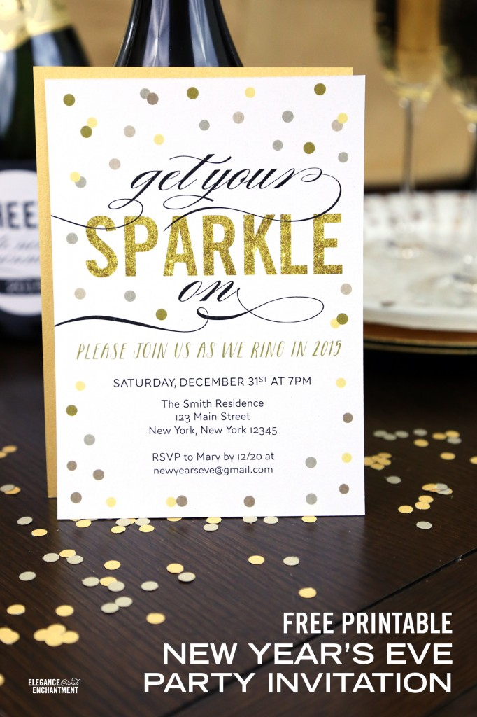 21 Classy and FREE New Year\'s Eve Printables - Printable Crush