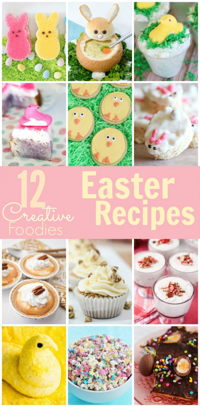 This cute JELL-O Peeps cake is the perfect treat for Easter! Plus, check out 11 other great Easter food ideas from other Creative Foodies!