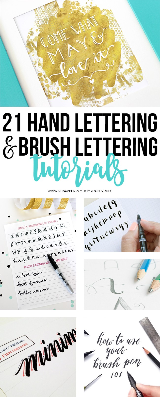 21 hand lettering and brush lettering tutorials printable crush ive rounded up 21 of the best hand lettering and brush lettering tutorials baditri Images