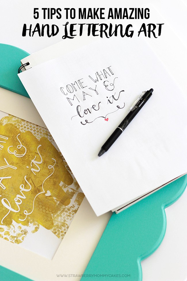 21 Hand Lettering and Brush Lettering Tutorials on Strawberrymommycakes.com