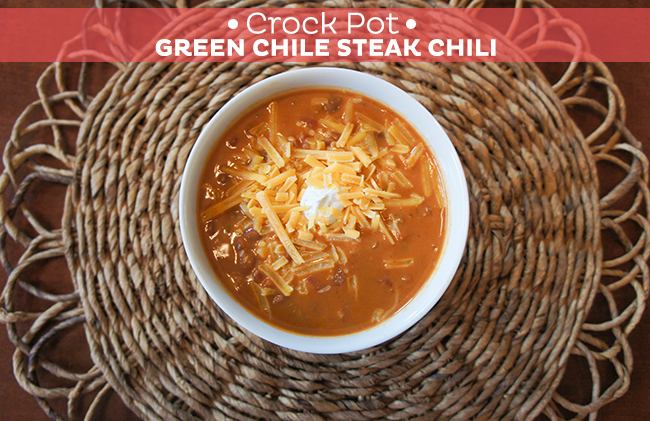 Crock Pot Green Chile Steak Chili
