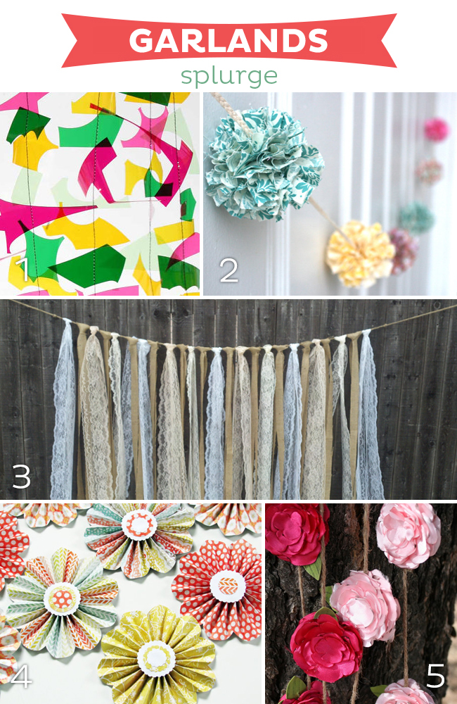 15 Fabulous Garlands | SPLURGE on www.strawberrymommycakes.com