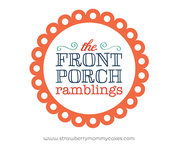 The Front Porch Ramblings Logo and Web Design by www.strawberrymommycakes.com