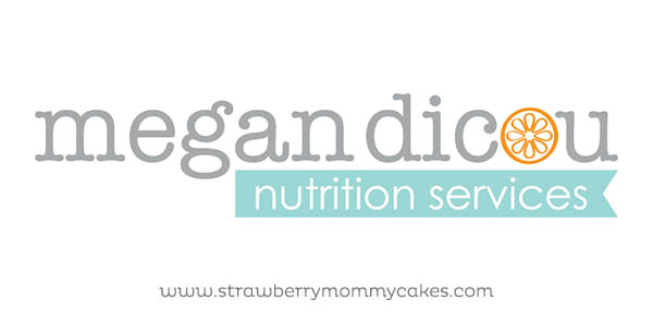 Logo and Web Design: Megan Dicou, Nutrition Services on www.strawberrymommycakes.com