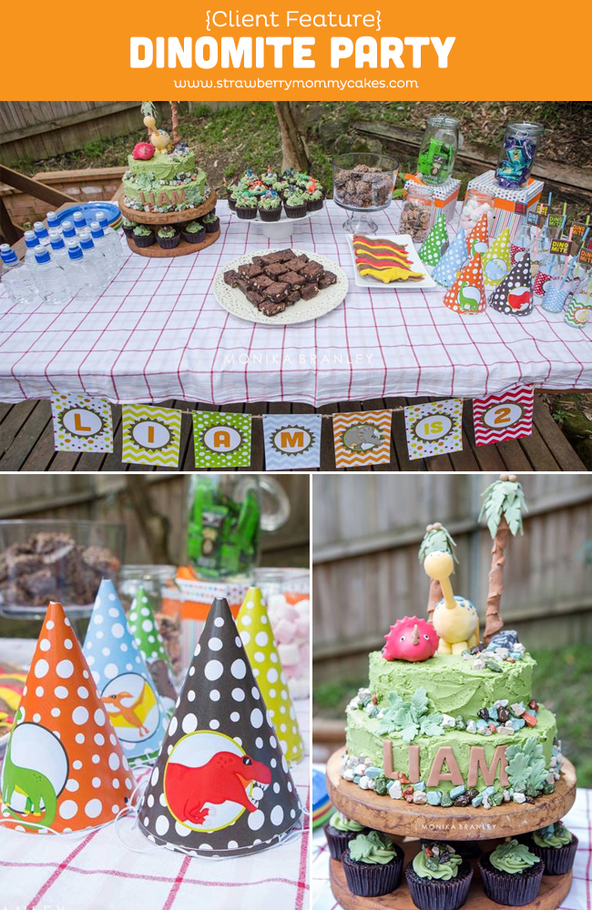 Client Feature: DinoMite Party on www.strawberrymommycakes.com