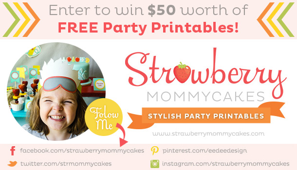 Strawberry Mommycakes giveaway on The Dating Divas! www.datingdivas.com #giveaway #printables
