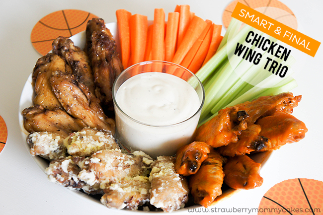 Smart & Final Chicken Wing Trio on www.strawberrymommycakes.com #FrozenFoodMonth #SmartandFinal #ChooseSmart #chickenwings #partyfood #shop