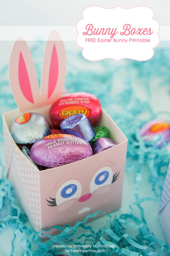 FREE Easter Bunny Boxes on www.strawberrymommycakes.com #freeprintables #freeeasterprintable #easterbunnyprintable