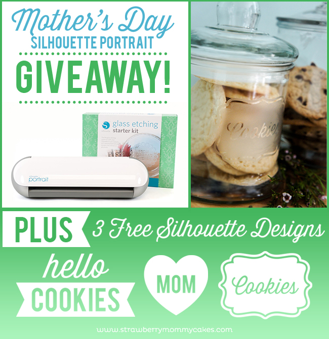 Mother's Day Silhouette Portrait Giveaway on www.strawberrymommycakes.com #silhouetteportrait #glassetching #giveaway