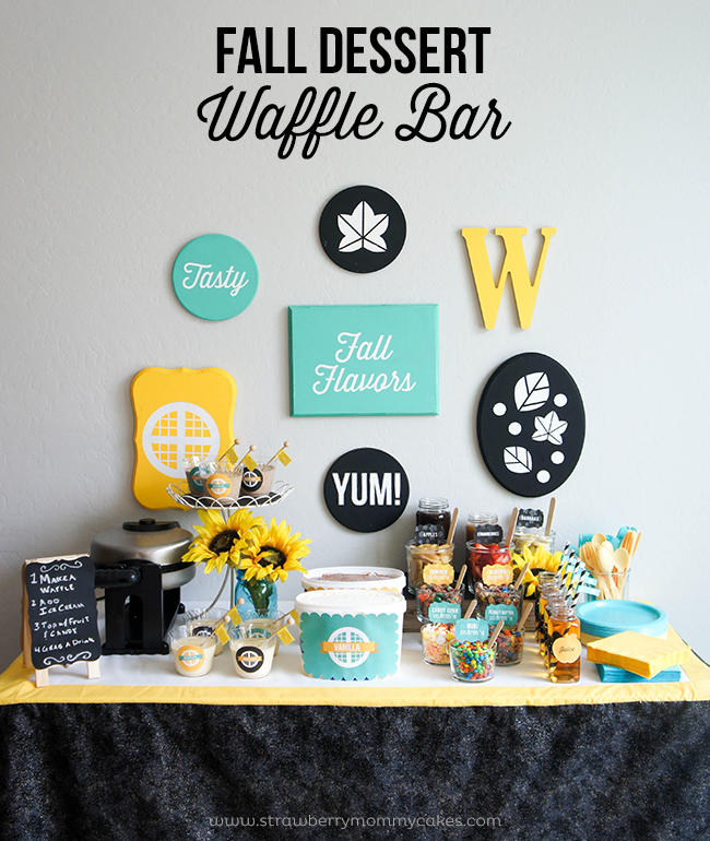 M&M's Fall Dessert Waffle Bar on www.strawberrymommycakes.com #FlavorofFall #CollectiveBias #shop
