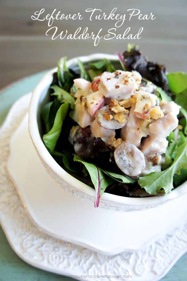 Leftover Turkey Pear Waldorf Salad