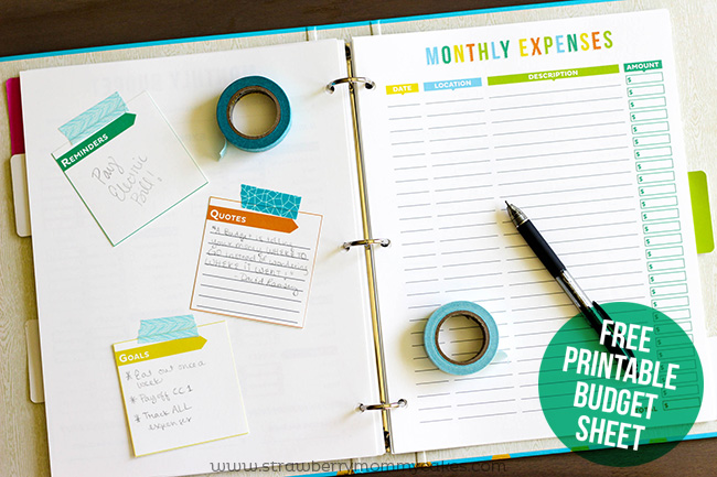 Free budget printables from printable crush