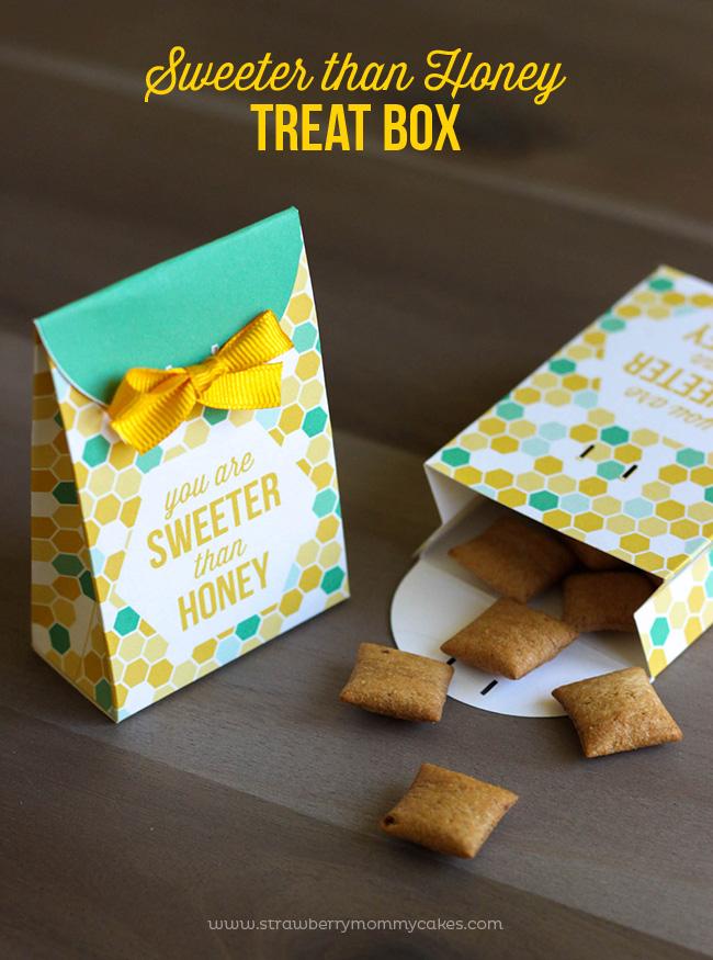 Sweeter than Honey Treat Box Printable