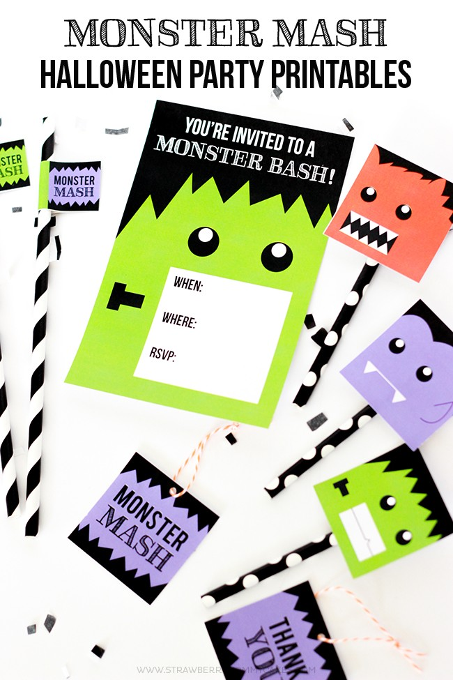 FREE Printables for a Monster Mash Halloween Party