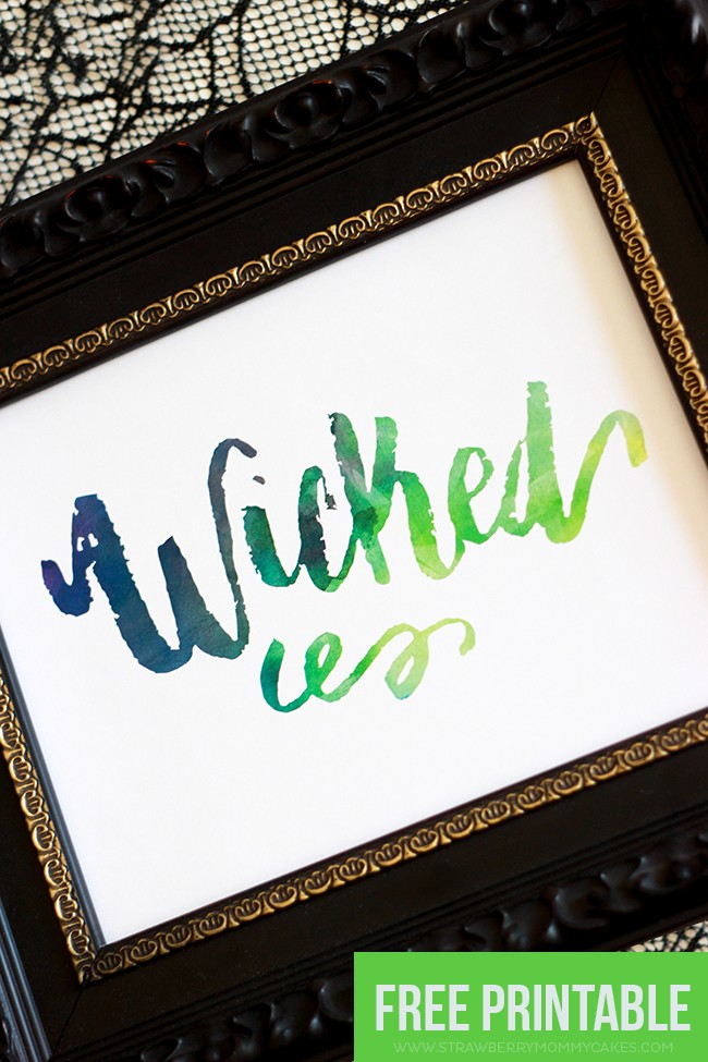 Download a FREE Wicked Halloween Wall Art Printable