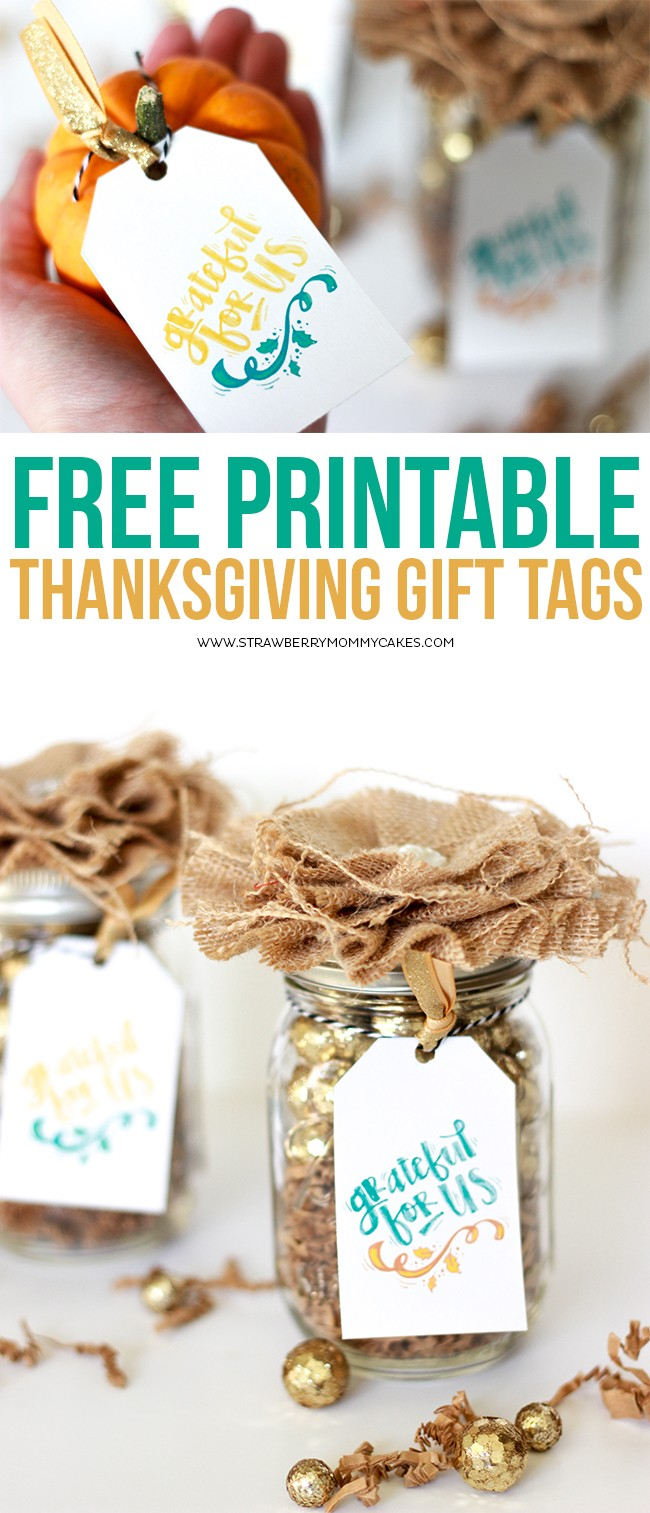 Download these Thanksgiving Printable Gift Tags for FREE!